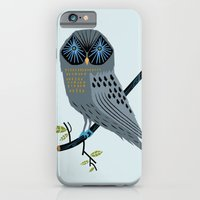 iPhone & iPod Case featuring The Perching Owl by Oliver Lake