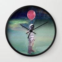 Red Balloon Wall Clock