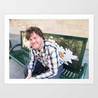 Brock Wilbur September Bench 2 Art Print