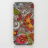 iPhone Cases featuring Random Flowers by Valentina Harper