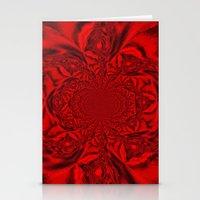 Red Kaleidoscope Stationery Cards