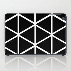 BLACK & WHITE TRIANGLES 2 iPad Case