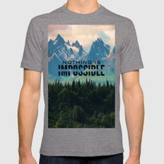 Escaping from woodland heights Mens Fitted Tee Tri-Grey SMALL