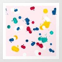 happy confetti Art Print