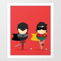 Heroes & Super Friends! Art Print