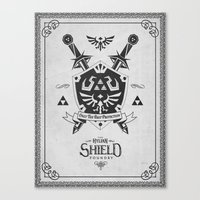 Legend Of Zelda Hylian S… Canvas Print