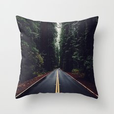 The woods have eyes Throw Pillow