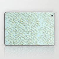 French Script on Paris Blue Laptop & iPad Skin