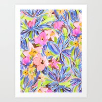 Flaunting Floral Periwinkle Art Print