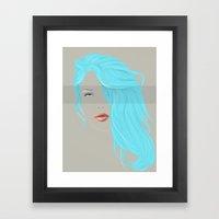 Emo Girl-Grey Framed Art Print