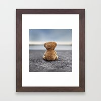 Teddy Blue Framed Art Print