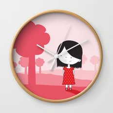 Polkadot Dress Wall Clock