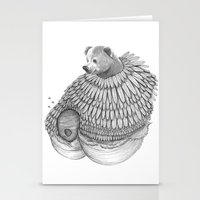 The Bear And The Bees- F… Stationery Cards