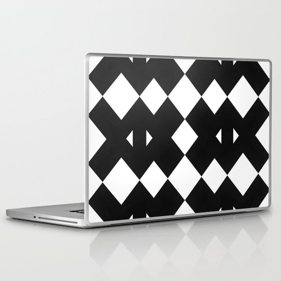 Branting Black & White Pattern Laptop & iPad Skin