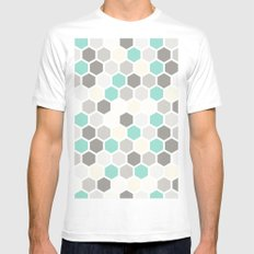Geometric one White Mens Fitted Tee SMALL