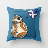 Droid Love Throw Pillow