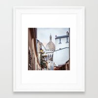 I love Montmartre, Paris. Framed Art Print