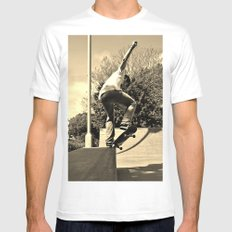 Adam Lindles 2 White SMALL Mens Fitted Tee