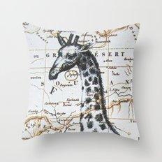 Giraffe in Africa: All Neck  Throw Pillow