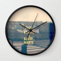 Just Roasts & Bloody Marys Wall Clock