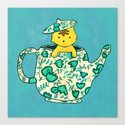 Dinnerware sets - Kitten in a teapot Canvas Print