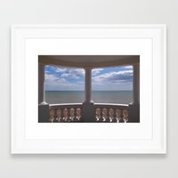 Sea View From A Small Pa… Framed Art Print
