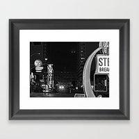 Fremont Street Framed Art Print