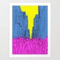 Living For The City Art Print