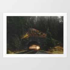 Rainier Tunnel Art Print