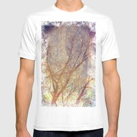 Galaxy + Nature Reflecti… Mens Fitted Tee White SMALL