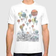 Voyages Over Edinburgh Mens Fitted Tee White SMALL