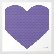 I love you this much... (purple) Art Print