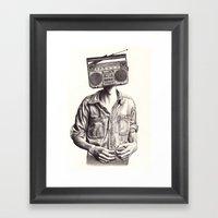 Radio-Head Framed Art Print