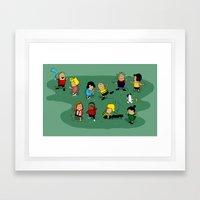 Juts Peanuts!! Framed Art Print