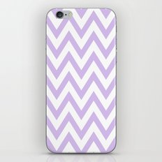 Lavender & White Chevron iPhone & iPod Skin