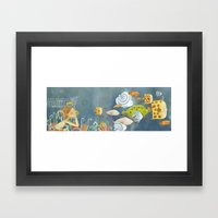 Clovis Chasing The Fish Framed Art Print