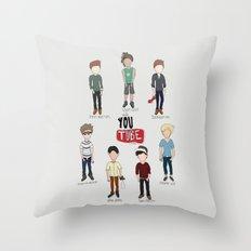 Youtube Boys  Throw Pillow