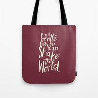 Kindness Quote By Gandhi… Tote Bag