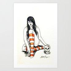 Goth Girl Vanitas Art Print