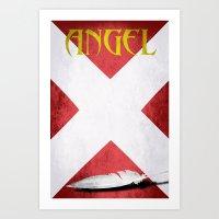 X-Man Angel Art Print