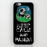 Keep Calm And Panda iPhone & iPod Skin