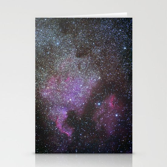 North America Nebula and Pelican Nebula Stationery Card