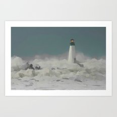 SANTA CRUZ LIGHT HOUSE 011 Art Print