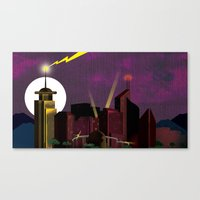 Electricityscape Canvas Print