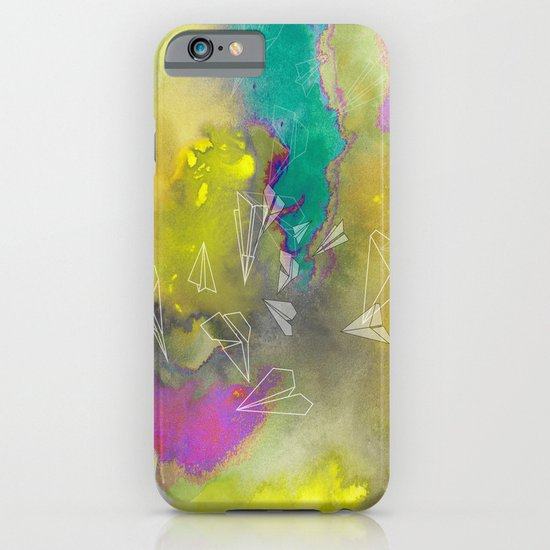 Planes in Watercolor iPhone & iPod Case