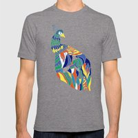 Pavo Cristatus Mens Fitted Tee Tri-Grey SMALL
