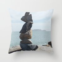 Rock Sculpture  Throw Pillow