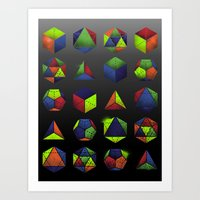 Sacred Shapes & Colors Art Print