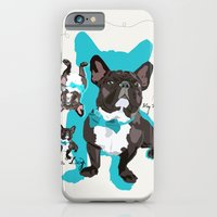 iPhone & iPod Case featuring Chauncey Loves You - French Bulldog by Smiley and the Pony