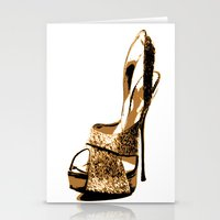 Sparkle Shoe Stationery Cards
